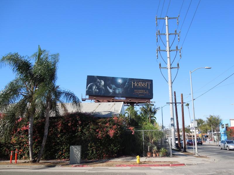 Hobbit Gollum movie billboard
