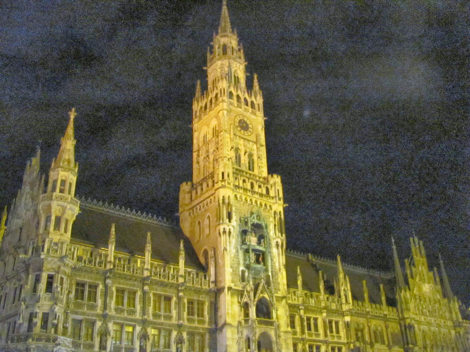 New Town Hall at night Munich Germany