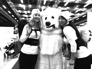 kori back protector back pack at the winter show with the polar bear skiing snowboarding snowkiting