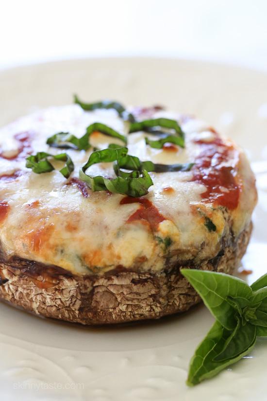 Veggie Lasagna Stuffed Portobello Mushrooms – low-carb, gluten-free ...