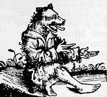 Un cincocéfalo es una criatura mítica con cabeza de perro el cual aparece en varios grabados medievales