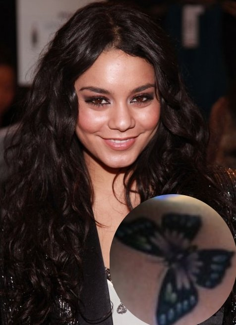 Vanessa Hudgens Tattoo And Causal Pics