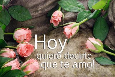 Hoy quiero decirte que te amo. Mensajes de Amor