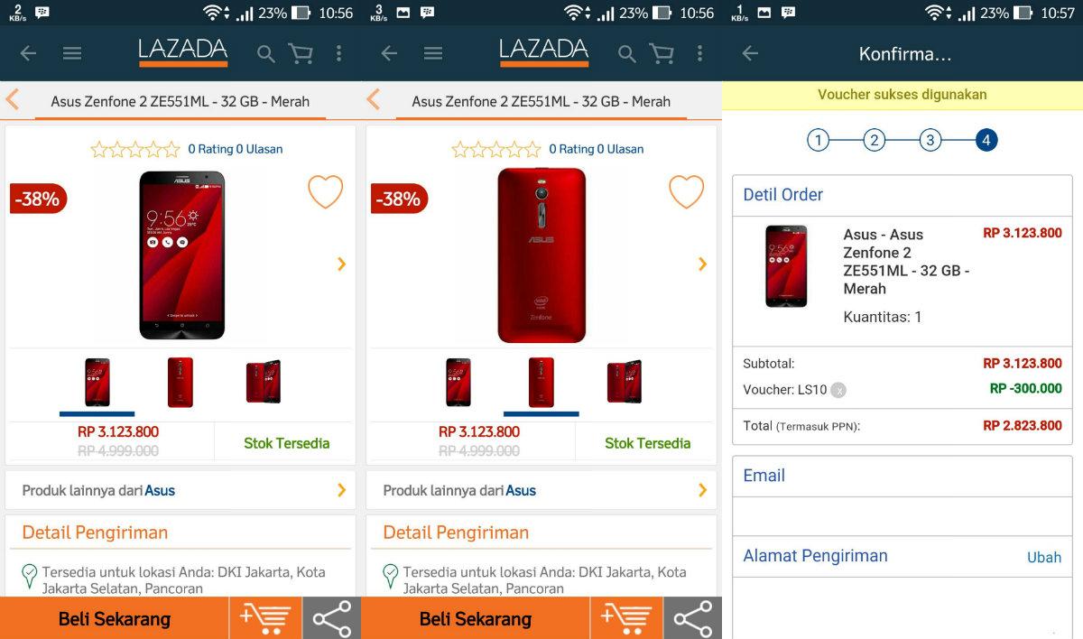 Harga ASUS ZenFone 2 4GB/32GB Cuma Rp 2,8 Jutaan Hari Ini di #LazadaID, Mau?