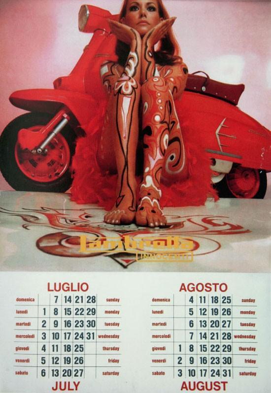 vintage everyday  1968 lambretta calendar