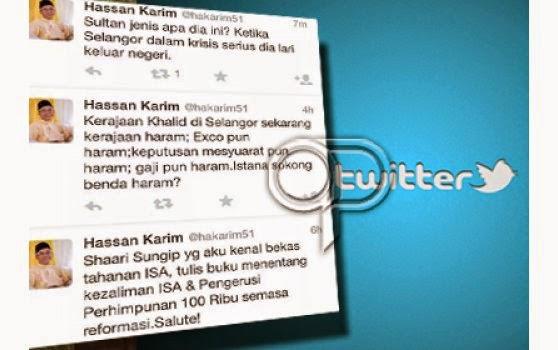 HINA SULTAN Hassan Karim kata Sultan Jenis Apa Lari Luar Negara Ketika Selangor Krisis dan Sokong Kerajaan HARAM Khalid