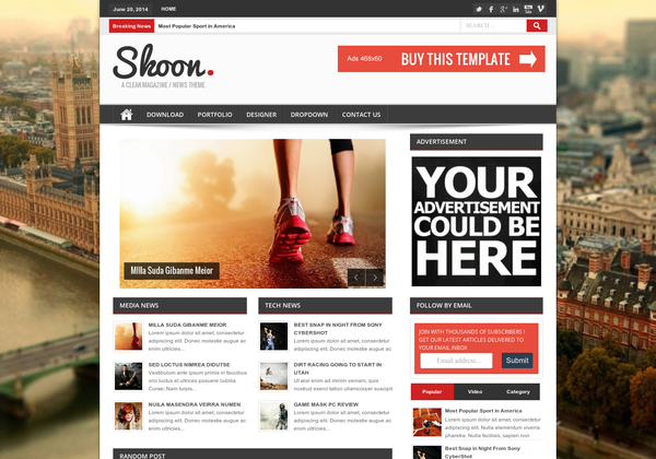 Free Download Shoon Responsive Blogger Template Seo ...