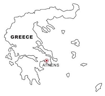 LAMINAS PARA COLOREAR - COLORING PAGES: Mapa y Bandera de Grecia ...