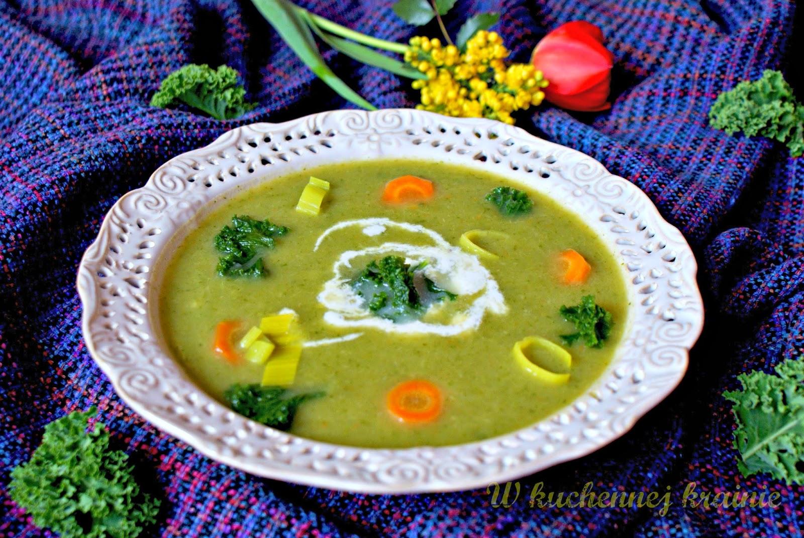 Zupa krem z jarmużem