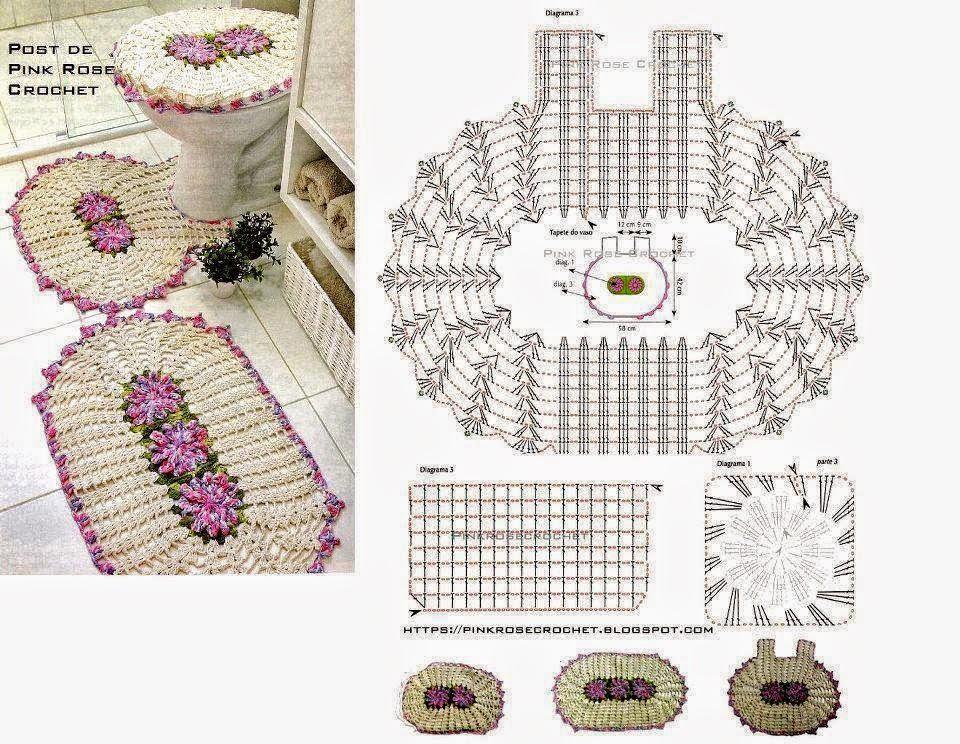 Set De Juego De Baño: de patrones gratuitos para realizar todo tipo de prendas y