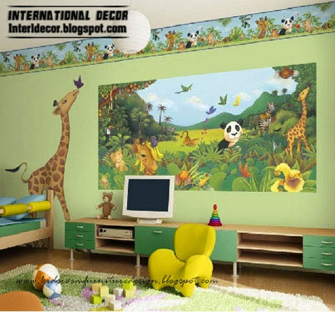 kids bedroom furniture, zoo kids room theme