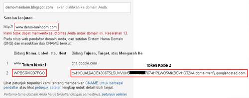 Kami tidak dapat memverifikasi otoritas Anda untuk domain ini. Kesalahan 13.