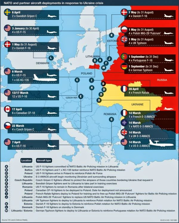 All NATO Aircraft Deployments In Response To The Ukraine Crisis : The West Prepares