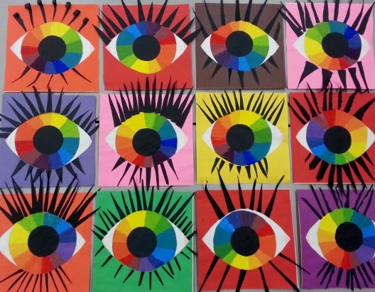 Eyeballs 5th Graders Created Color Wheel
