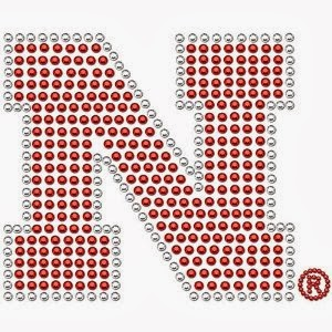 Nebraska Cornhuskers NCAA Bling Auto Decal