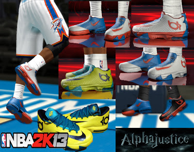 NBA 2K13 Nike KD 6 Shoes Mod