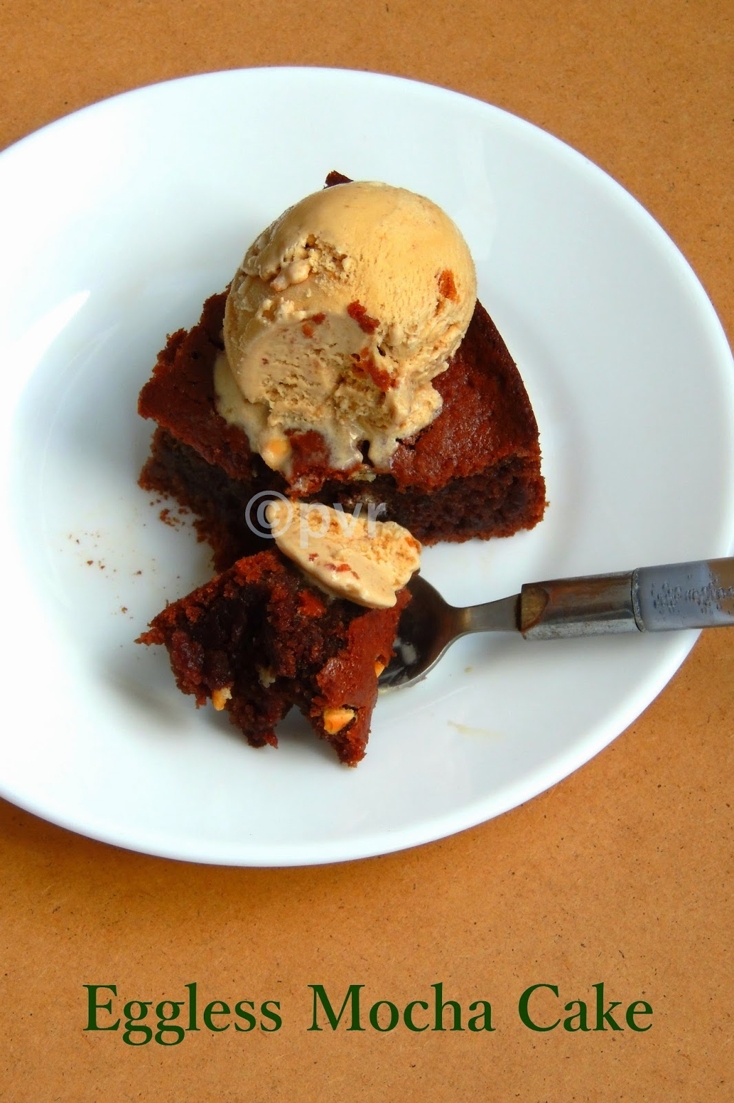 Eggless Mocha cake, Eggless chocolate coffee cake, eggless mocha cake with applesauce