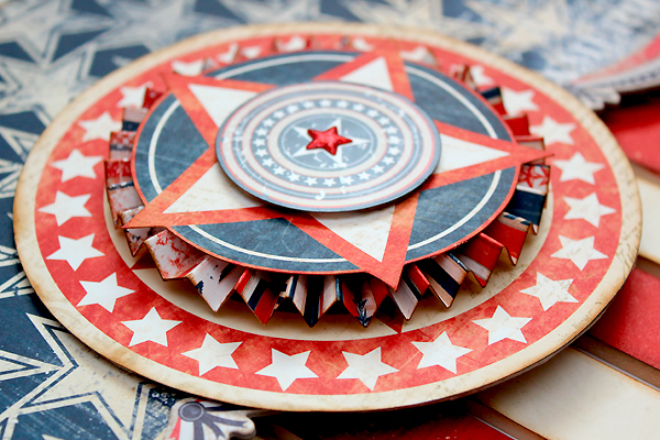 USA Flag Home Decor by Juliana Michaels for BoBunny #4thofjuly #homedecor #patriotic