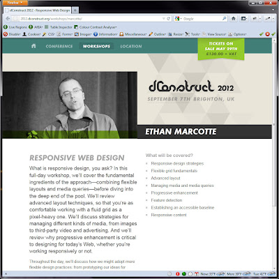 Screen shot of http://2012.dconstruct.org/workshops/marcotte/.