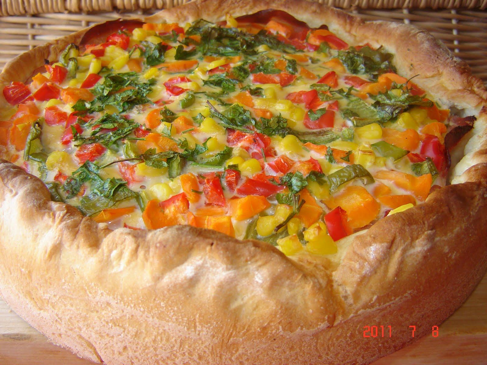 Пирог с овощами рецепт пошагово