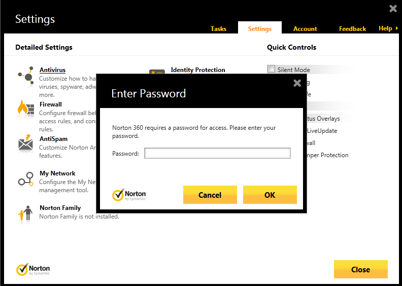 Cara Memberi Password Norton 360