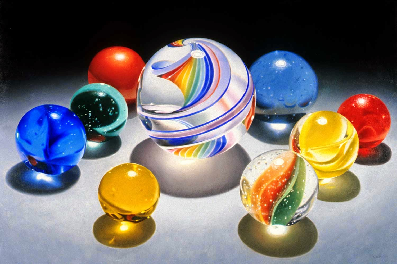 12-Kandy Kane Rainbow-Charles-Bell-Hyper-Realistic-Paintings-www-designstack-co