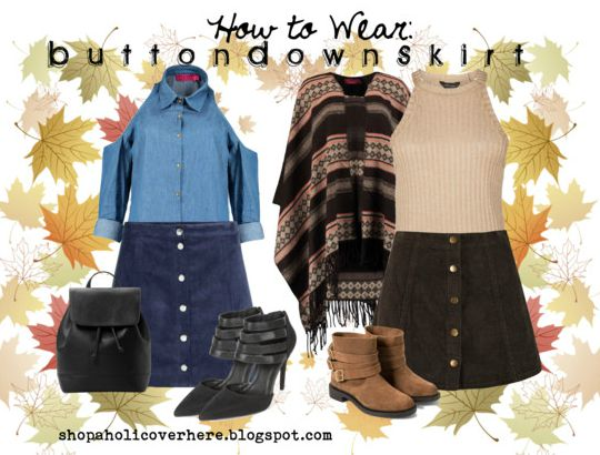 How to Wear Fall Trend 2015: Button Down Skirts