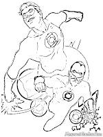 Mewarnai Gambar Green Lantern