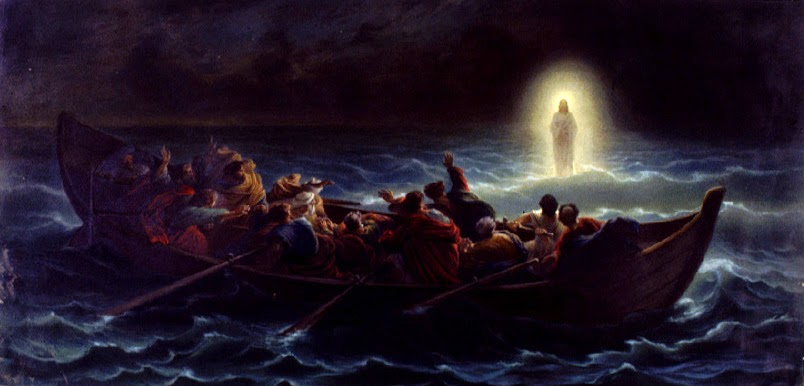 Cristo camina sobre el mar del artista francés Amédée Varint