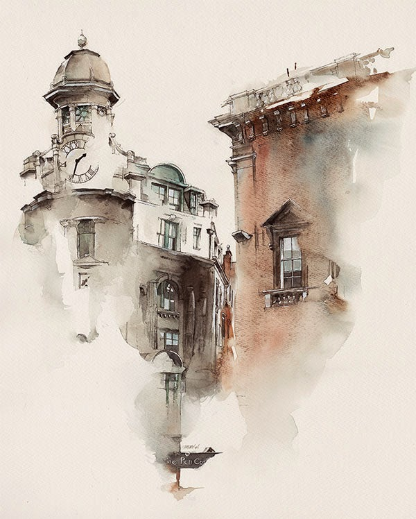 11-Ireland-Dublin-Sunga-Park-Surreal-Fantasy-of-Dream-Architectural-Paintings-www-designstack-co