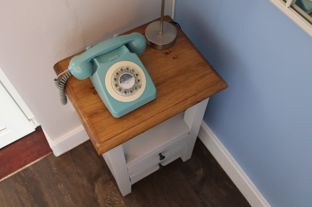 John Lewis Wild & Wolf 1960's Corded Telephone, French Blue - Home Interior Design