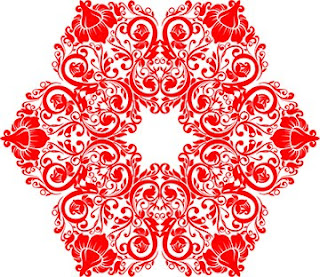 Flower Circle Red