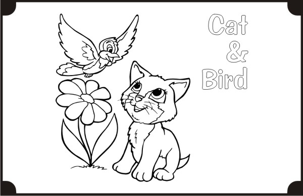 printable-cat_and_bird-coloring-pages