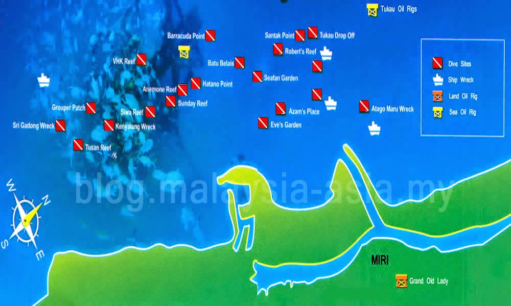Dive Sites in Miri-Sibuti