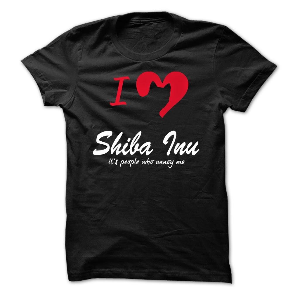 i love my shiba inu cool shirt