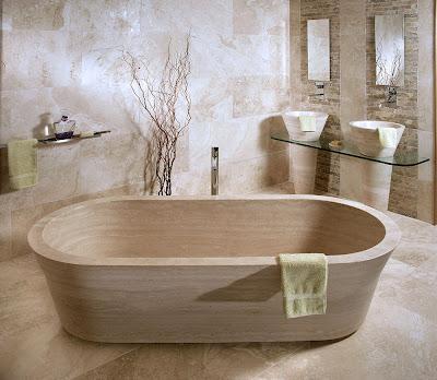 piedras en el baño
