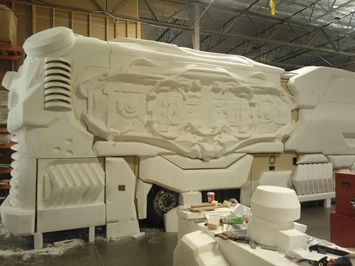 Proses pembuatan body bus gaming