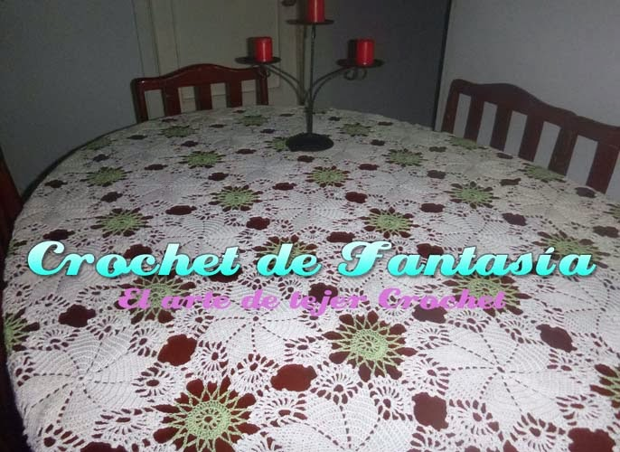 Manteles para mesa rectangulares tejidos a crochet imagui - Manteles mesas grandes ...