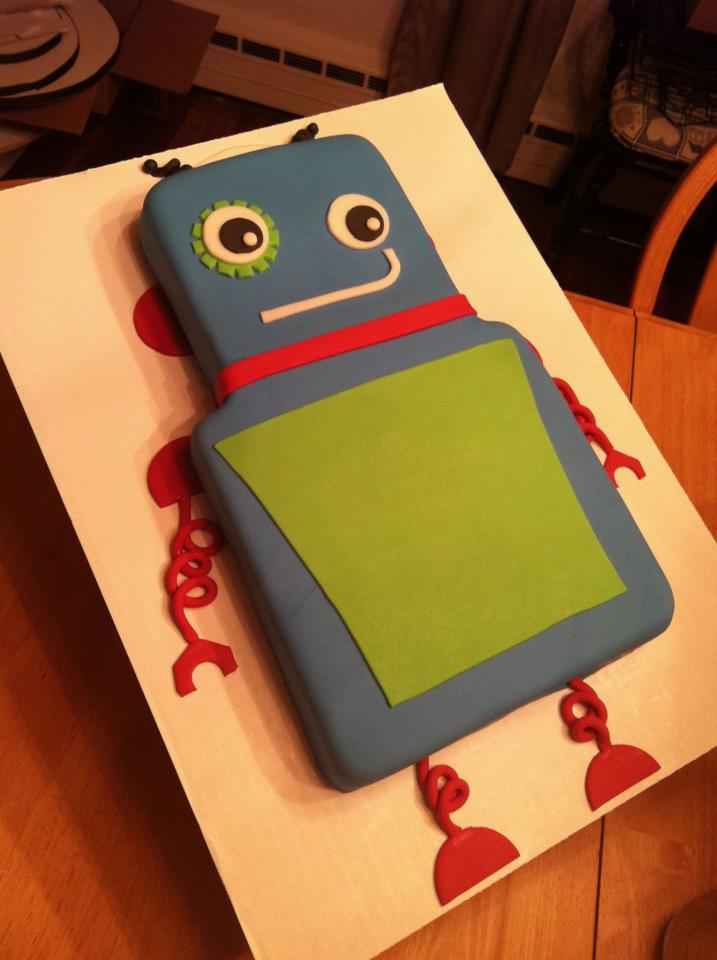 Cakes by Becky: Robot Cake