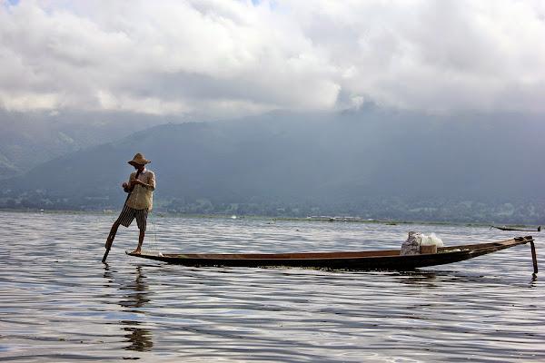 Pescando en el Lago Inle