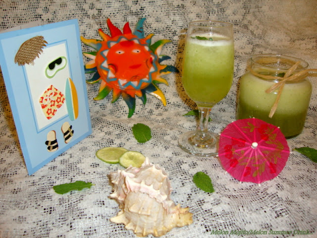image of Melon Mojito Recipe / Honeydew Melon Summer Drink