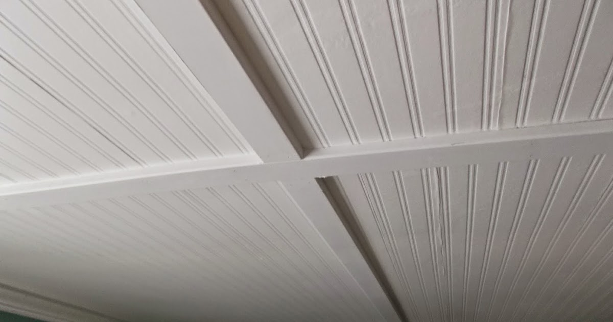 Beadboard ceiling seams How to disguise wood paneling