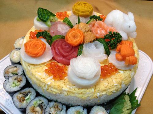 my sushi world various sushi cake. Black Bedroom Furniture Sets. Home Design Ideas