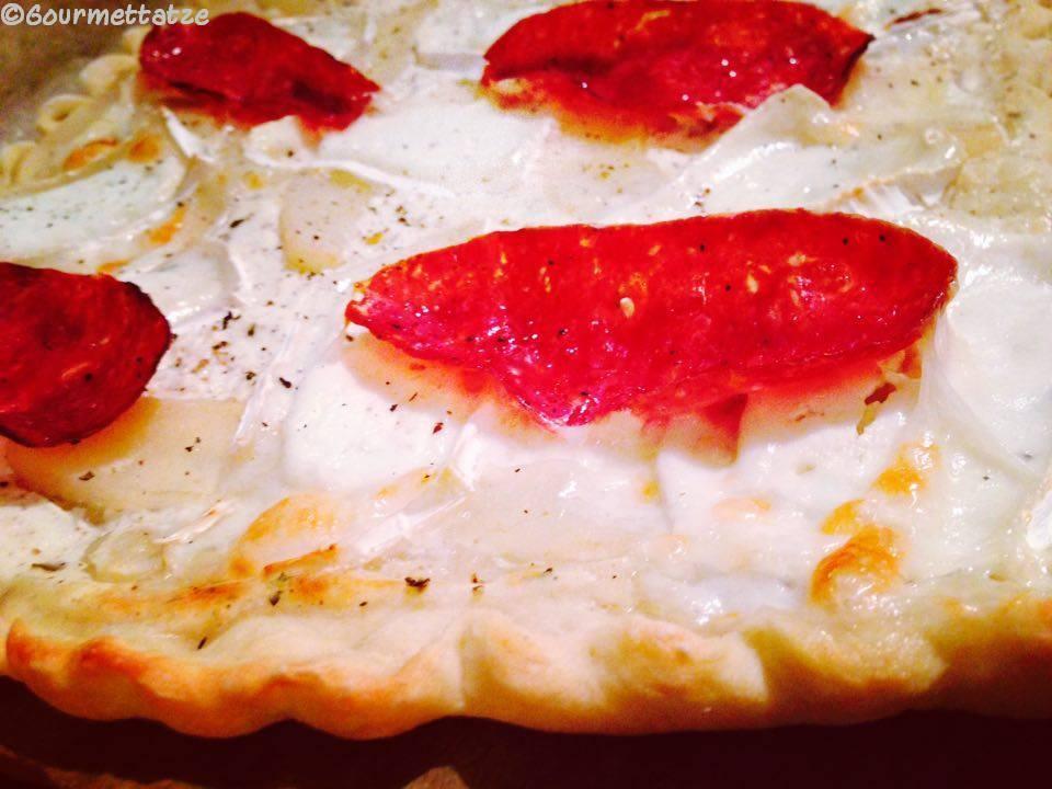 Gourmettatze duett vom flammkuchen - Flammkuchen belag ideen ...