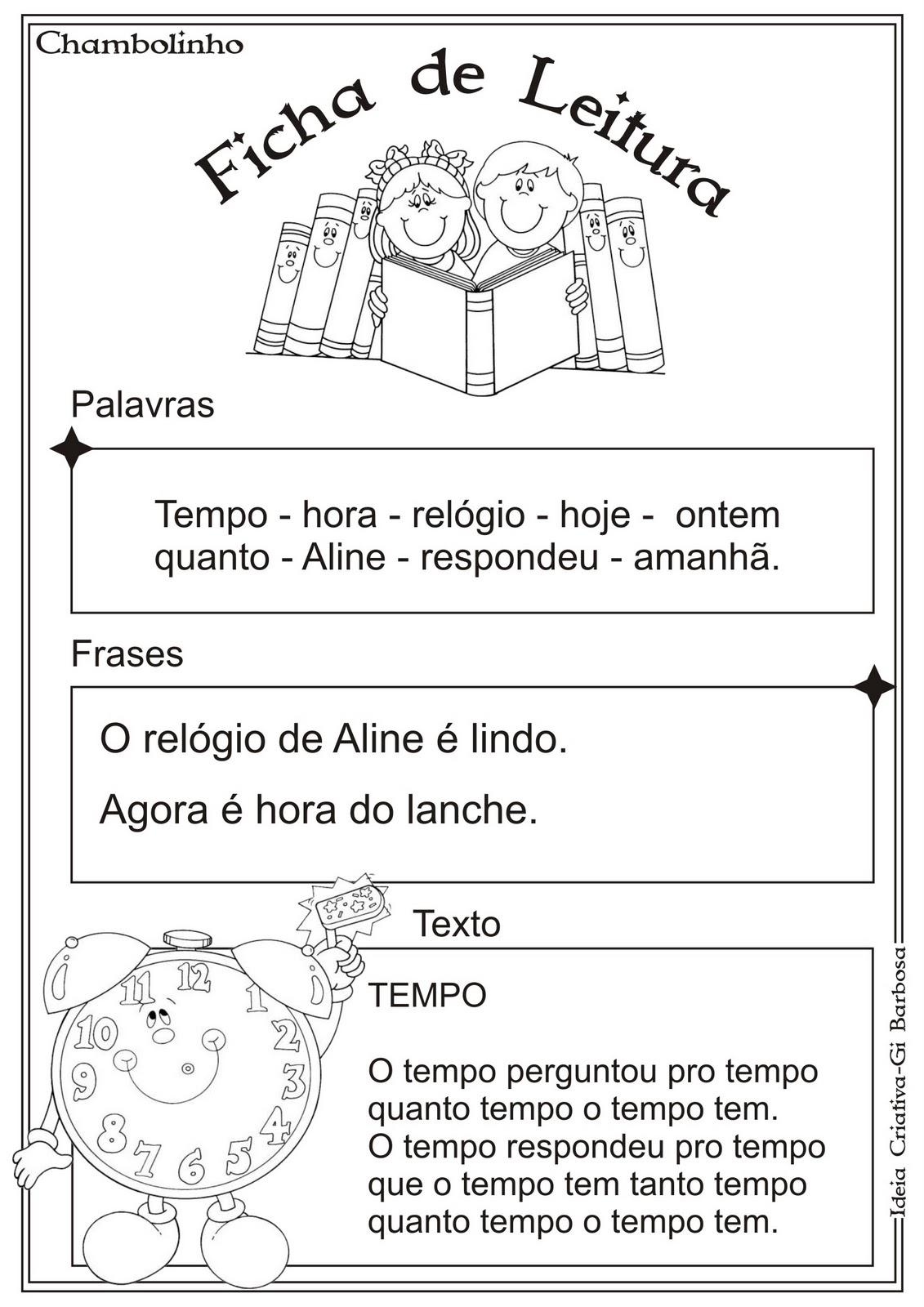 Ficha de Leitura -Texto Tempo