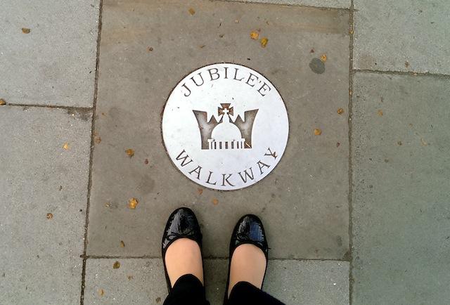 Jubilee walkway sign
