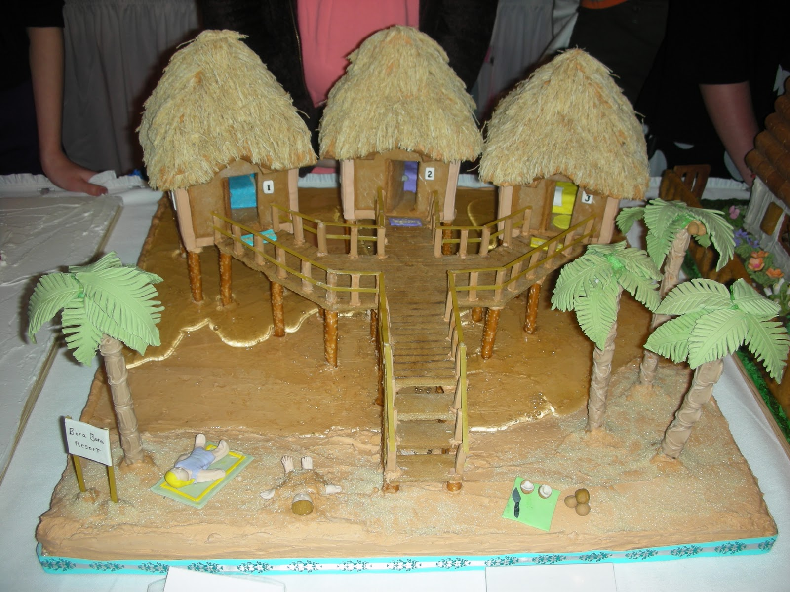 Themed gingerbread house ideas the for Beach house reception ideas