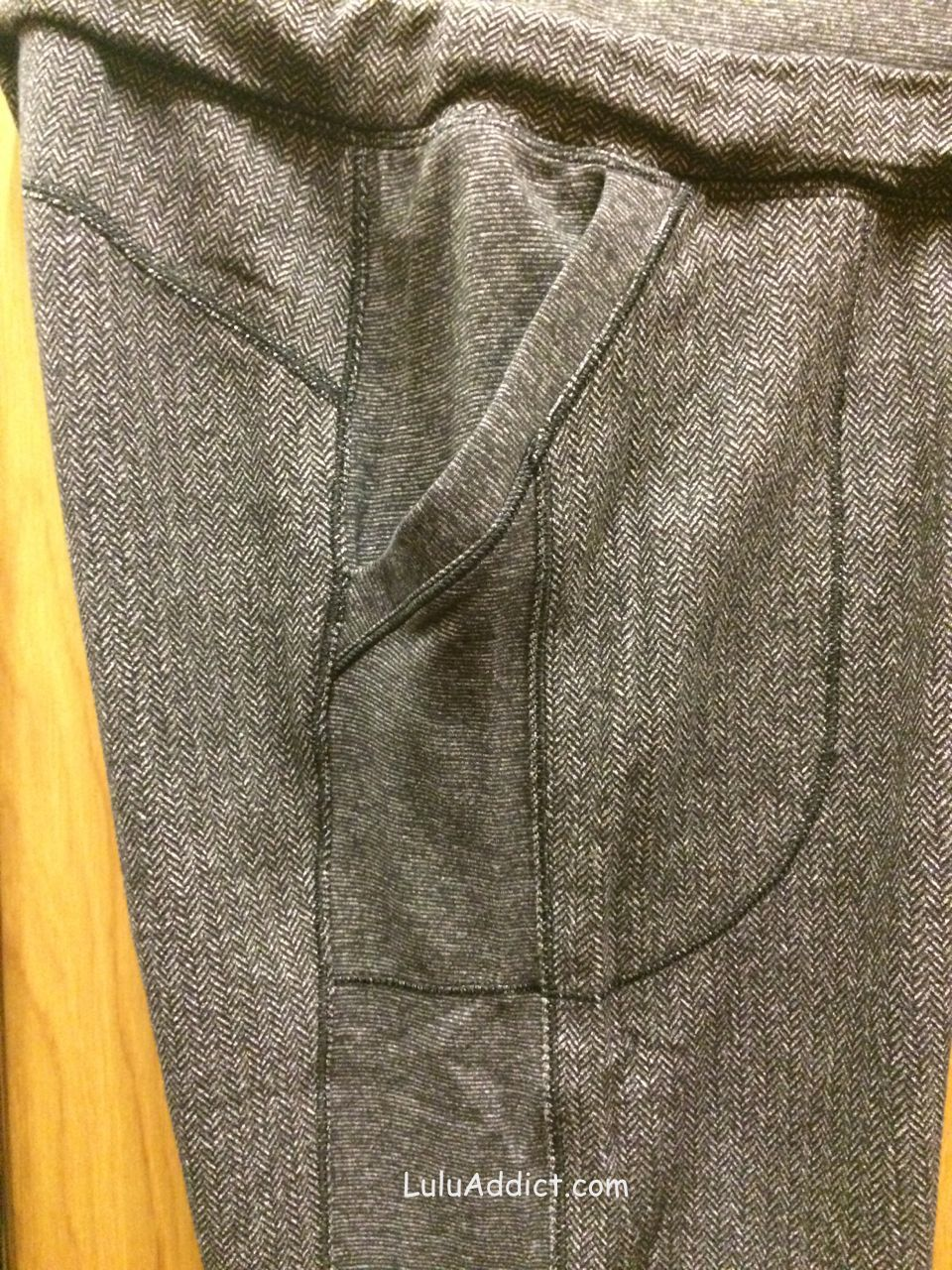 lululemon base runner pant in herringbone