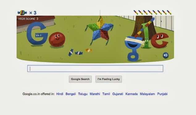 Interactive Google Doodle Piñata Game, 15 Birthday September