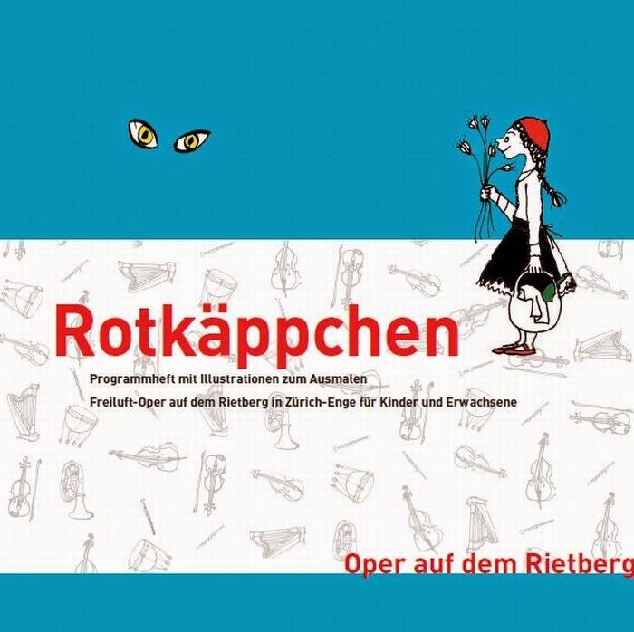 Rotkäppchen. Kinder-Oper. Programmheft mit Illustarionen zum Ausmalen.